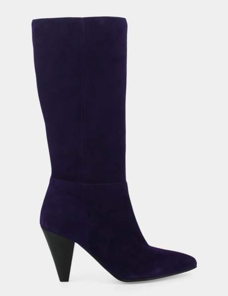 Tendance violet : bottes