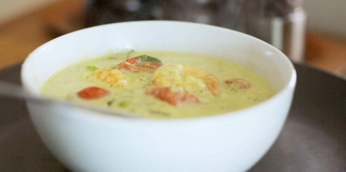 Curry vert de pétoncles et crevettes de Fred Chesneau
