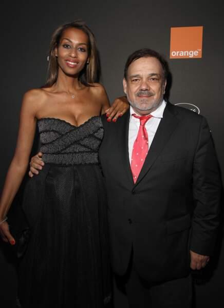 Didier Bourdon et sa femme Marie-Sandra Badini au festival de Cannes le 18 mai 2019.