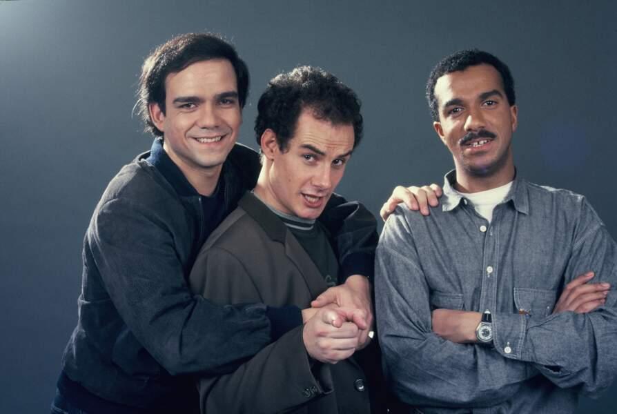 Les Inconnus lors d'une séance photos dans les années 90.