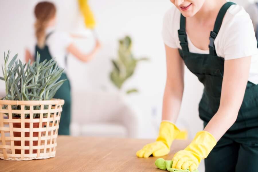 Les employés de nettoyage