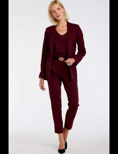 Tailleur pantalon : feutré