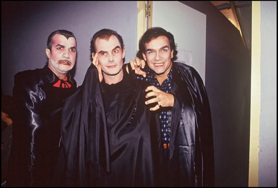 Les Inconnus lors de la soirée pour les 10 ans de la radio NRJ en 1991.