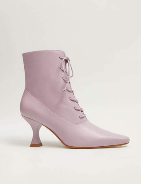 Tendance violet : bottines