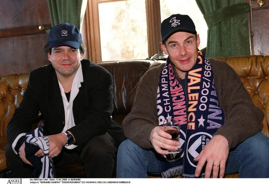 Didier Bourdon et Bernard Campan chez les Girondins de Bordeaux en 2000.