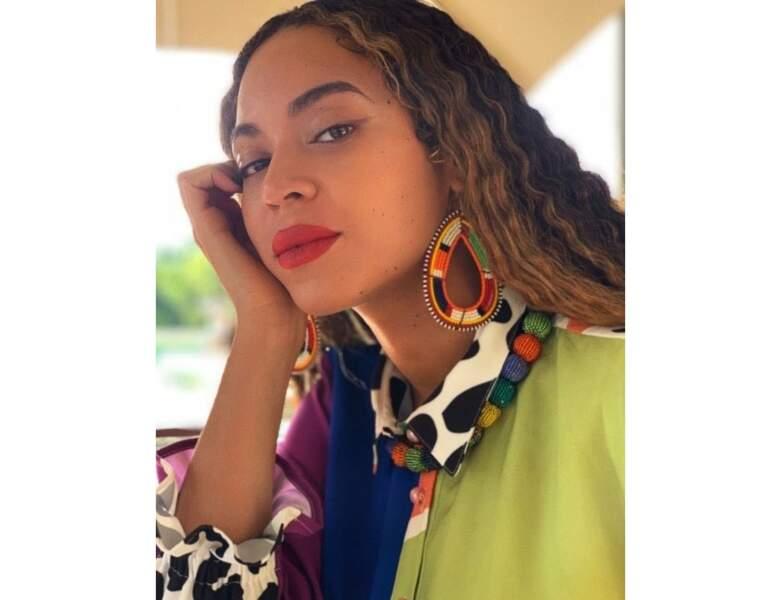 Le châtain clair naturel de Beyoncé