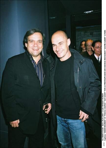 Didier Bourdon et Pascal Campan dans le restaurant de Guy Savoy en 2004.