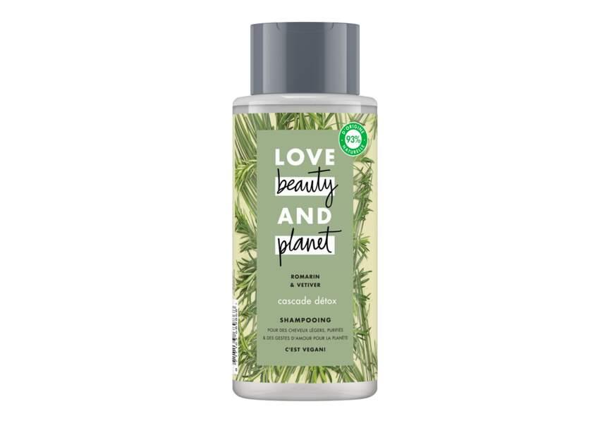 Le shampooing cascade détox Love beauty and planet