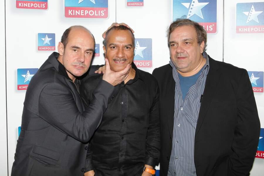 """Les Inconnus à l'avant-première du film """"Les Trois Frères, le retour"""" à Paris le 31 janvier 2014."""