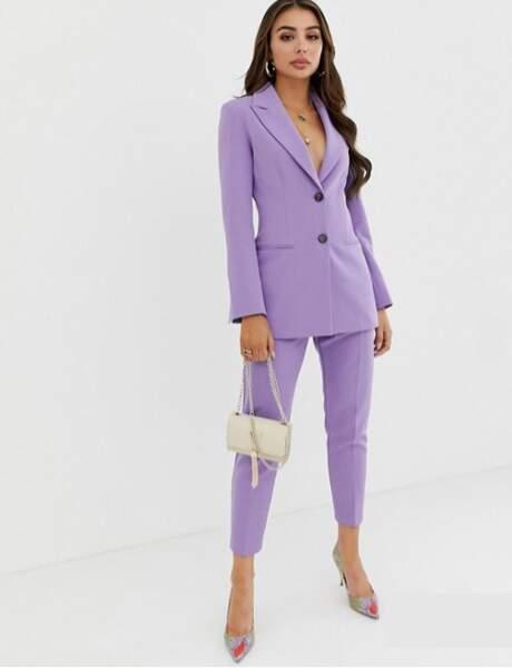 Tendance violet : tailleur