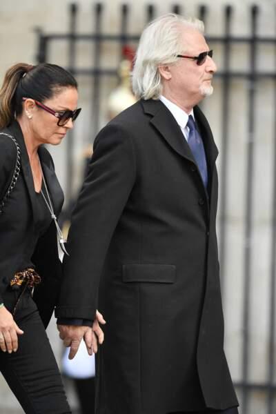 Patrick Sebastien et sa femme Nathalie venus pour rendre un dernier hommage à son ami Jacques Chirac.