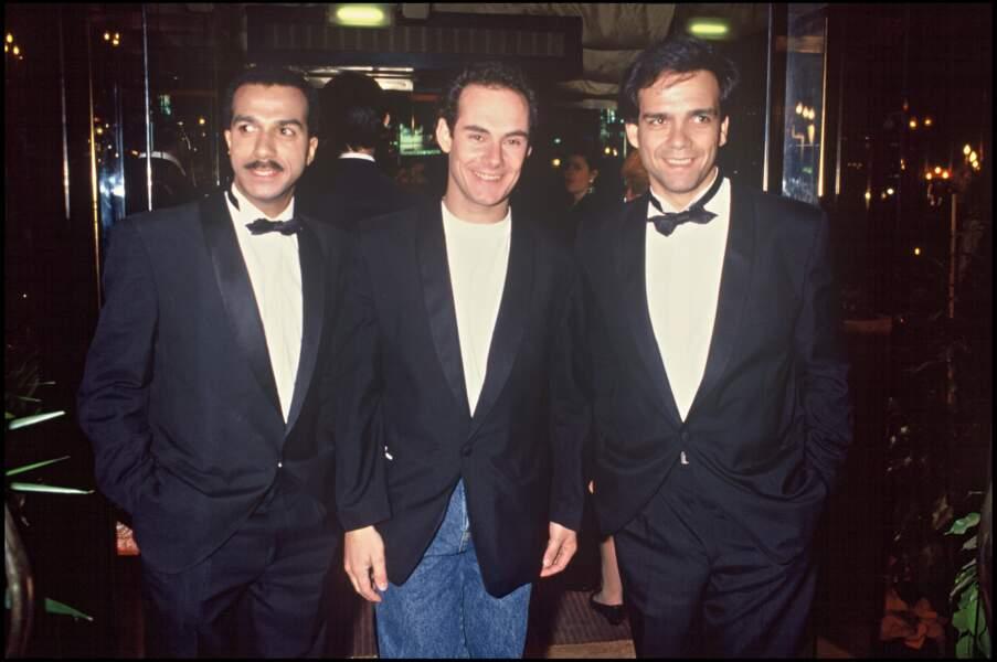 Les Inconnus à la soirée des Molière à Paris en 1989.