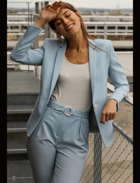 Tailleur pantalon : pastel