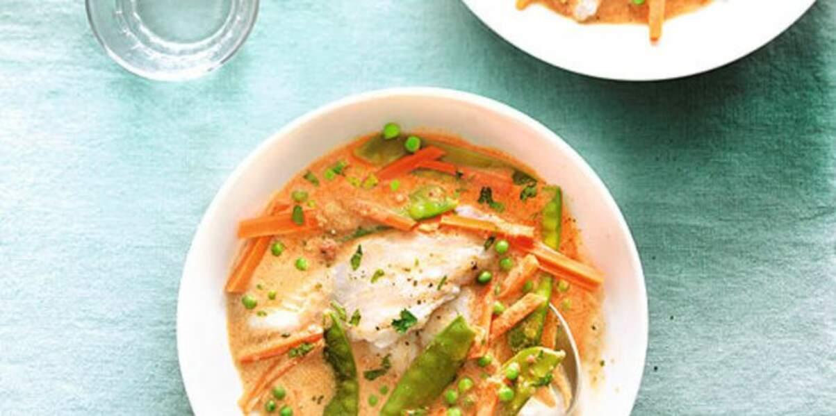 Recette Weight Watchers : Curry thaï au lait de coco