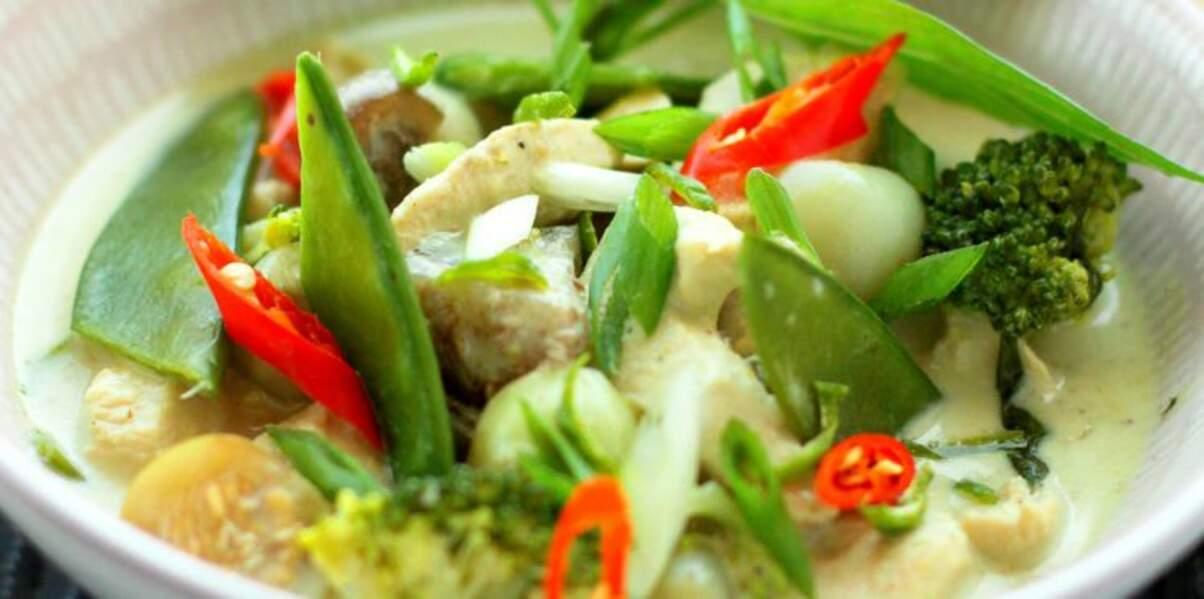 Curry vert de poisson à la thaïe