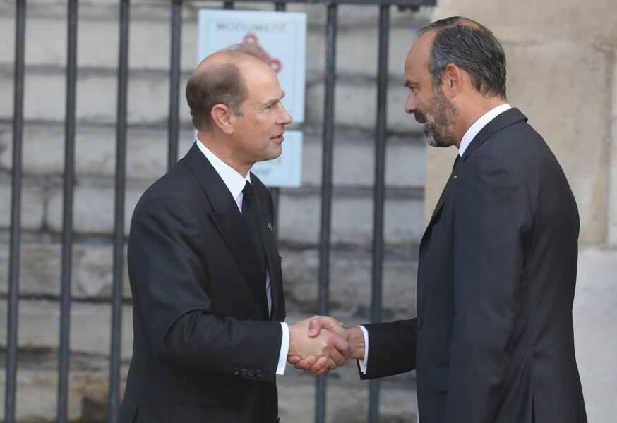... le prince Edward d'Angleterre avec le premier ministre Edouard Philippe...
