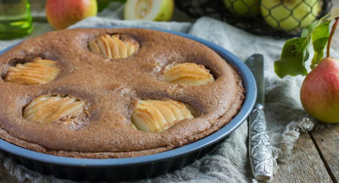 Gâteau poire-chocolat sans gluten