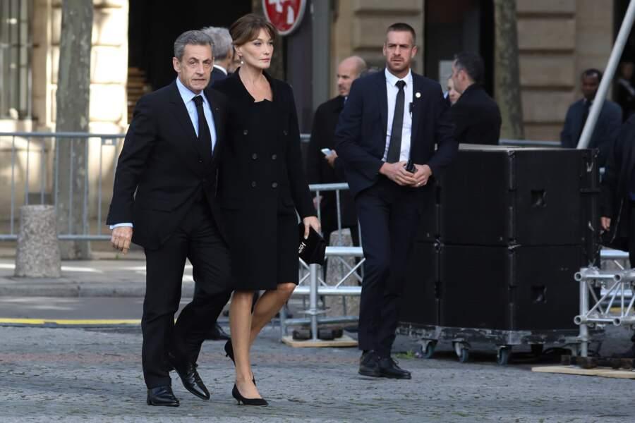 L'ancien président de la République Nicolas Sarkozy et sa femme Carla Bruni.