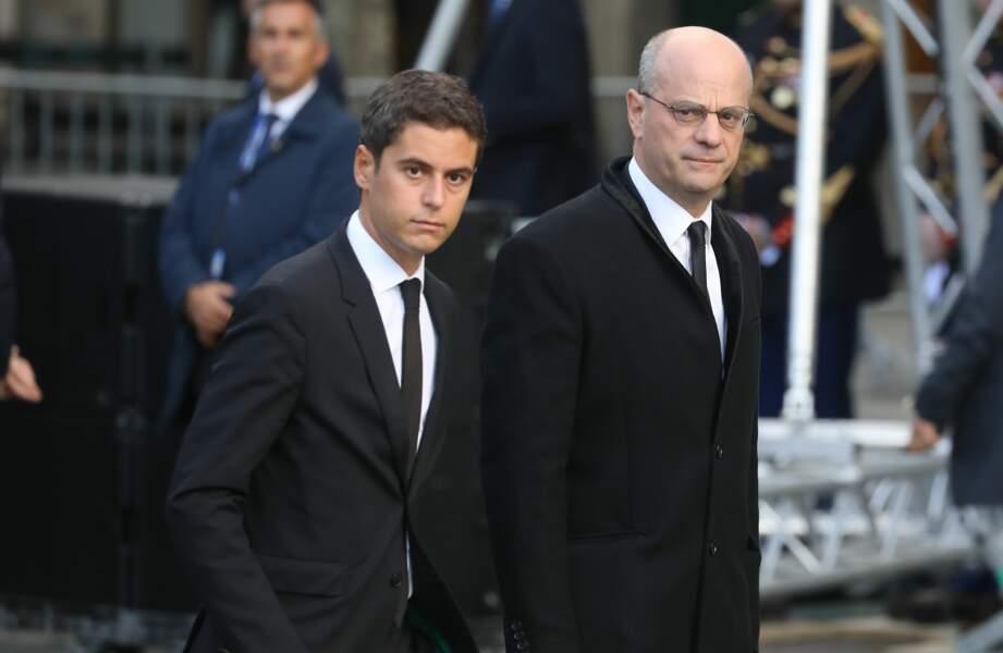 ... Jean-Michel Blanquer et Gabriel Attal...
