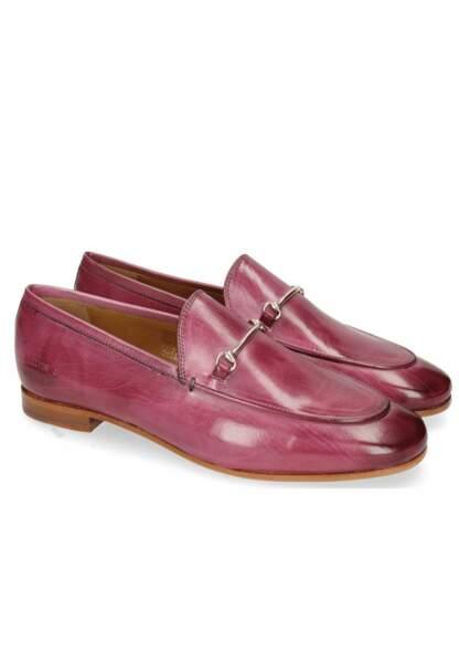 Tendance chaussures plates : mocassins roses