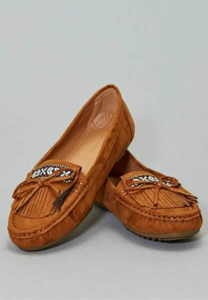 Tendance chaussures plates : mocassins à franges