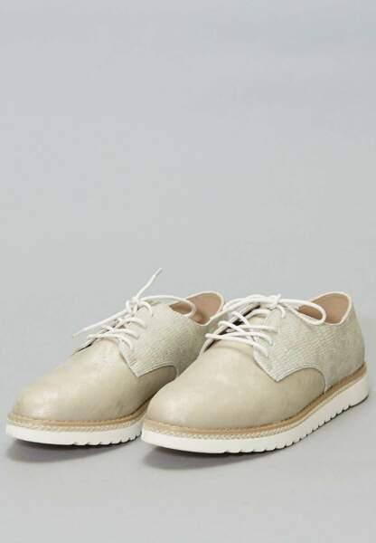 Tendance chaussures plates : derbies tressées