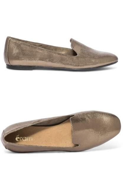 Tendance chaussures plates : slippers mordorées