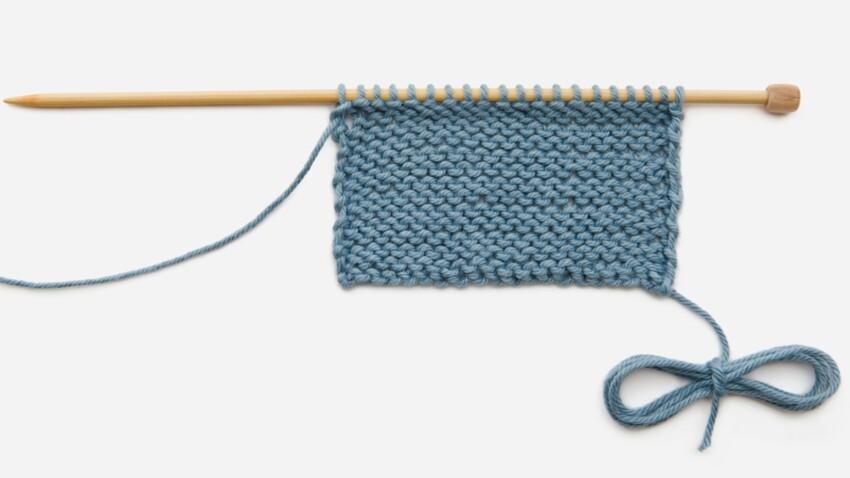 Tricoter le point mousse (vidéo)