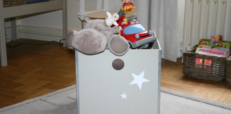 Je fabrique un coffre à jouets étoilé