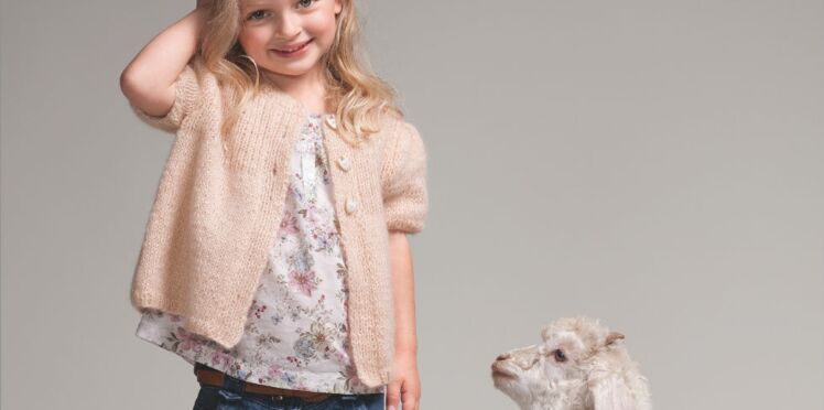Tricot : un gilet pour les petites filles