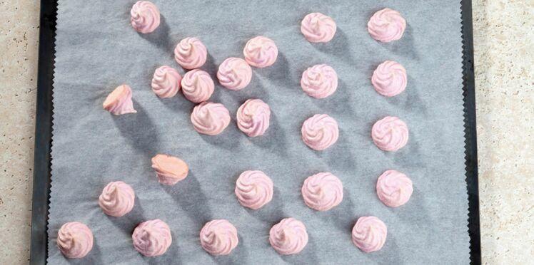 Mes meringues toutes roses