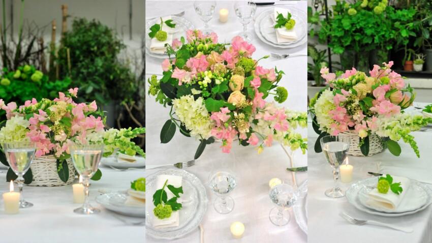Réaliser un bouquet en centre de table