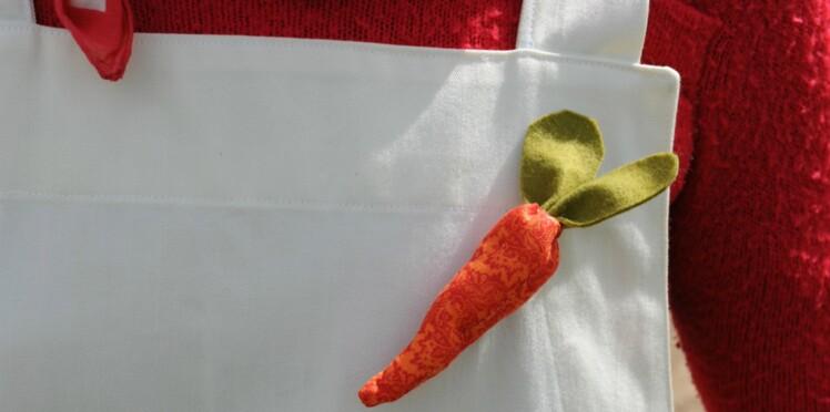 Bijou primeur : une broche carotte