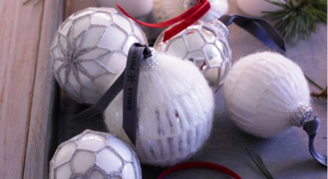 La boule de Noël en mohair