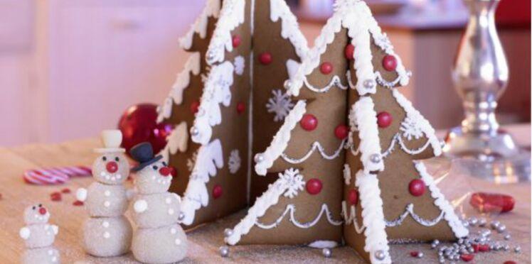 Des sapins en pain d'épice pour Noël