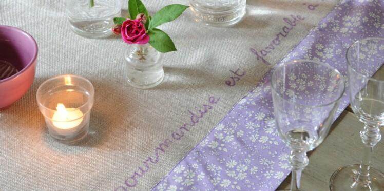 Une nappe poétique au feutre textile