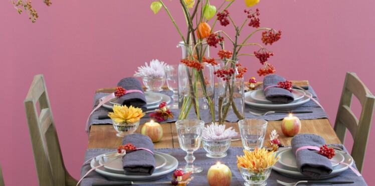 Déco de table : une table d'automne