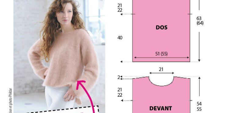Le tricot de novembre 2012 : un pull en angora