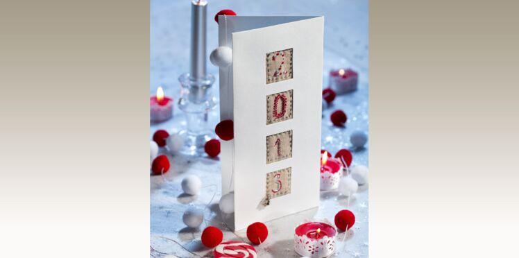 Carte de vœux : Comme un marquoir
