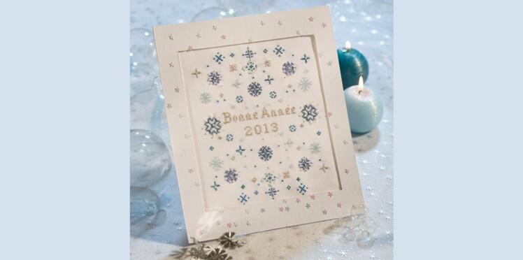 Carte de vœux : Galaxie bleue