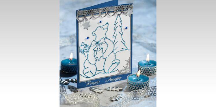 Carte de vœux : Bonne année, petit ours