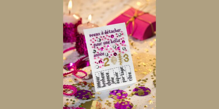 Carte de vœux : Mes vœux à la carte