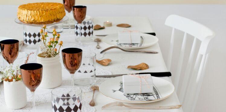 Déco de table : un Noël en or avec une blogueuse créative