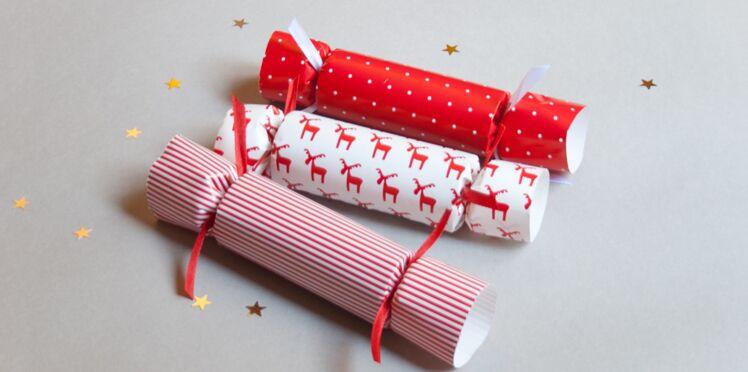 Cadeau d'assiette : les Christmas crackers