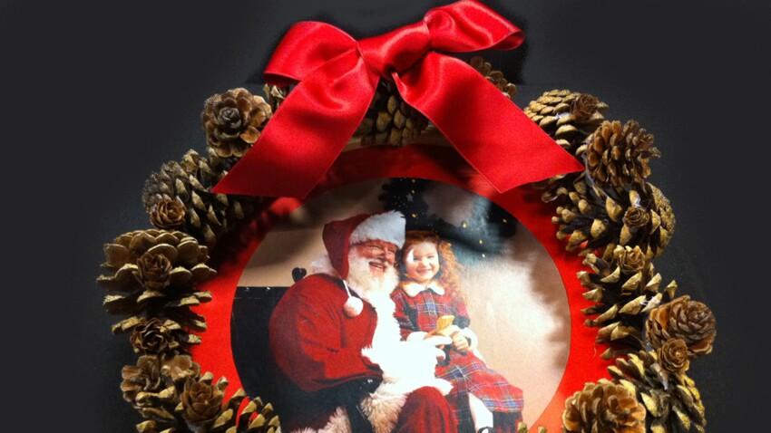Je réalise une couronne de Noël personnalisée