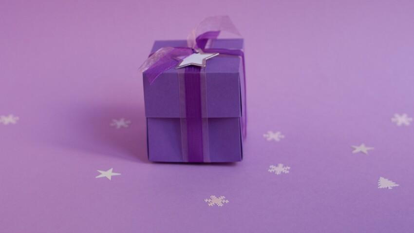 Emballage cadeau : boîte avec couvercle