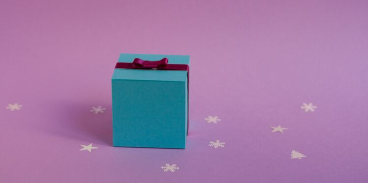 Emballage cadeau : une boîte carrée