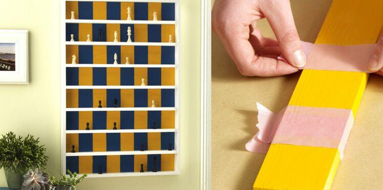 Je fabrique une étagère en jeu d'échecs