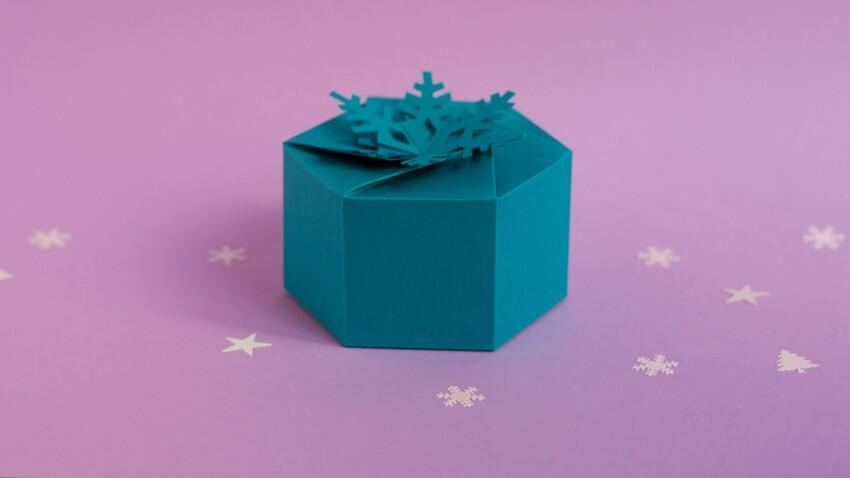 Emballage cadeau : boîte flocon