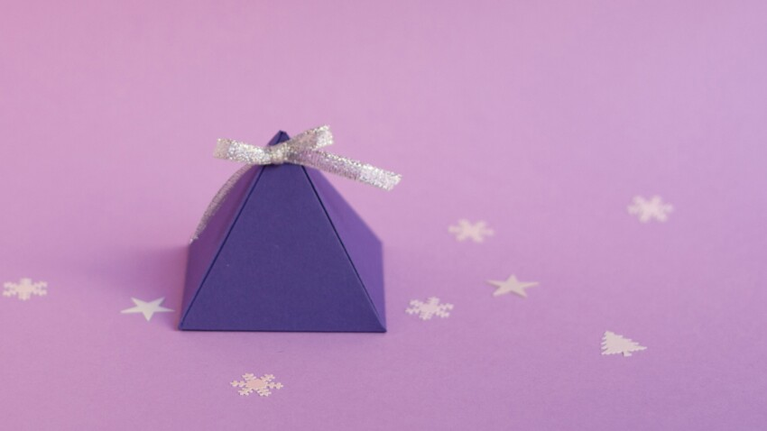 Emballage cadeau : la boîte pyramide